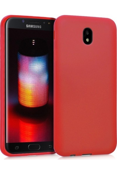 RedClick Samsung Galaxy J7 Pro Ultra Slim Yumuşak Premier Silikon Kılıf - Kırmızı