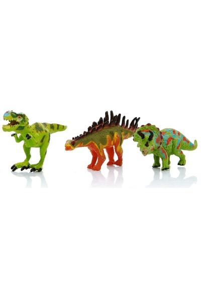 Gepettoys 3'lü Oyuncak Dinozor Seti