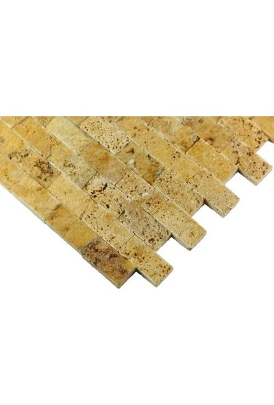 Markataş Sarı Traverten Patlatma Mozaik