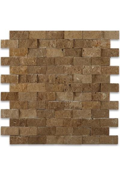 Markataş Kahverengi Doğal Taş Traverten Patlatma Duvar Kaplaması
