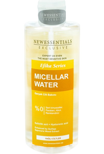 New Essentials Efika Serisi Misel Su (Micellar Water) Yağlı Ciltler 400 ml