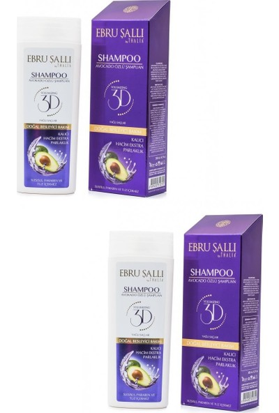 Ebru Sallı By Thalia- Avokado Özlü Hacim Verici Bakım Şampuanı 300 ml X2 - Yağlı Saçlar