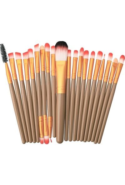 Ecogroup 20'li Profesyonel Yumuşak Makyaj Fırça Seti Gri Dore Renk