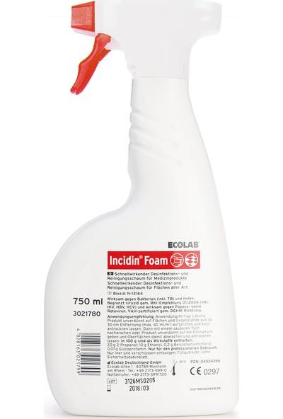 Ecolab Incidin Foam Yüzey Dezenfektanı 750 ml