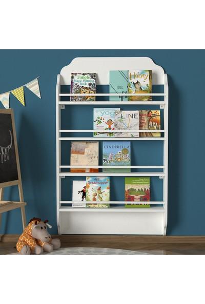 Dekorister Exclusive Montessori Kitaplık Beyaz