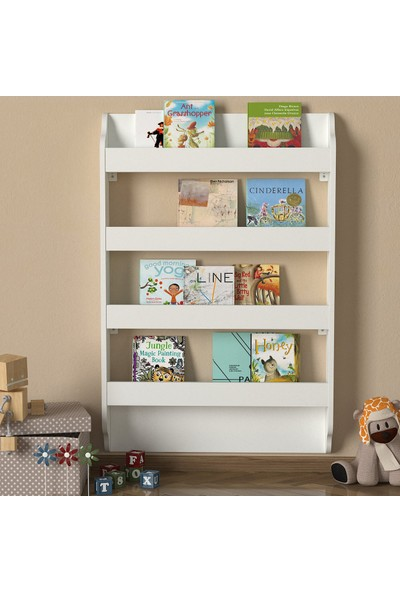 Dekorister Exclusive Drama Montessori Kitaplık Beyaz