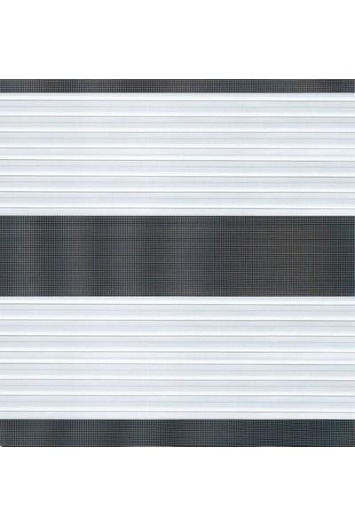 Güneş Perde Beyaz Pliseli Etek Dilimli Zebra 160X200 cm