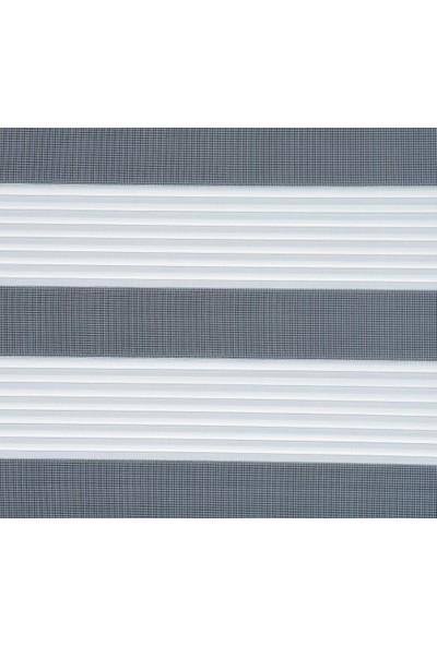 Güneş Perde Brillant Dar Pliseli Etek Dilimli Krem Zebra 140X200 cm