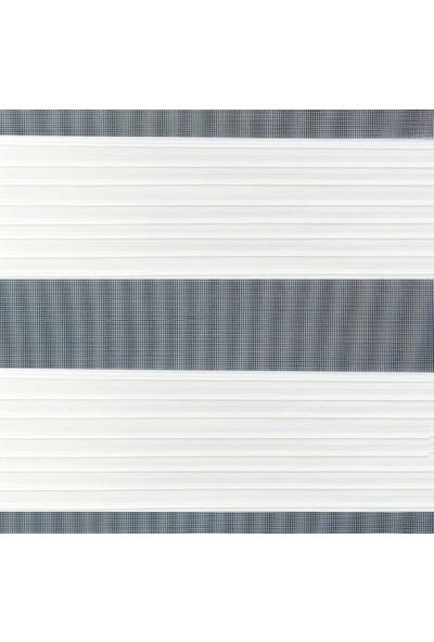 Güneş Perde Brillant Ekru Pliseli Etek Dilimli Zebra 100X200 cm