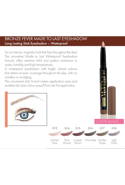 Pupa Made To Last Waterproof Eyeshadow 018 Light Gold