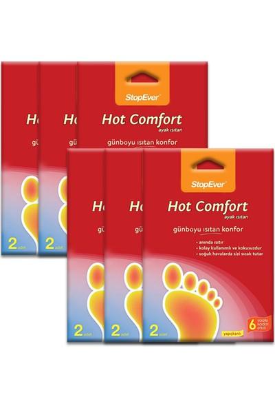 Stopever Hot Comfort Ayak Isıtan Ped - 12 Adet (6x2'Li Ekonomik Ambalaj)