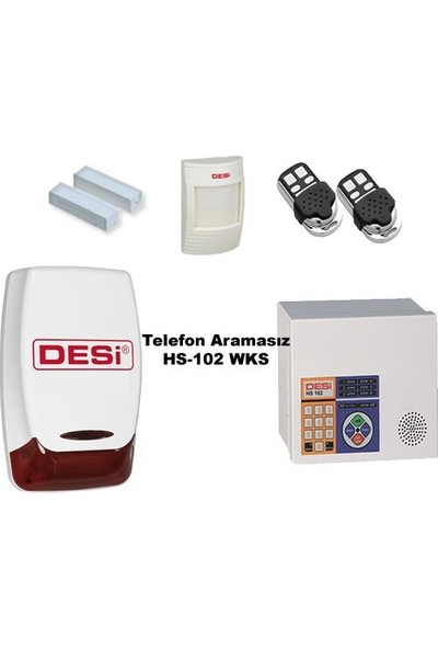 Desi Hs-102 Metaline Alarm Sistemi Telefon Aramasız! 100% Türk Malı