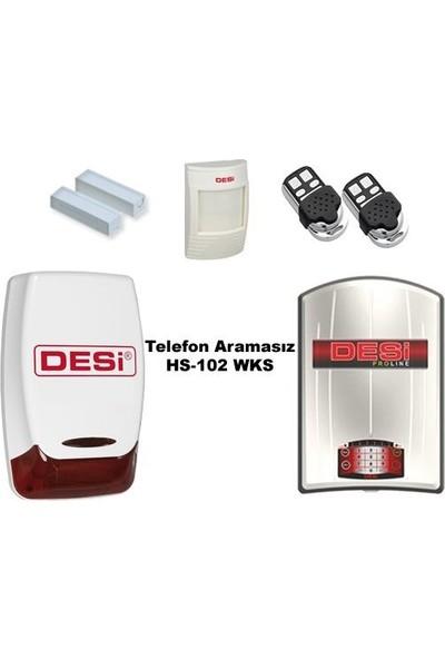 Desi Hs-102 Proline Alarm Sistemi Telefon Aramasız! 100% Türk Malı