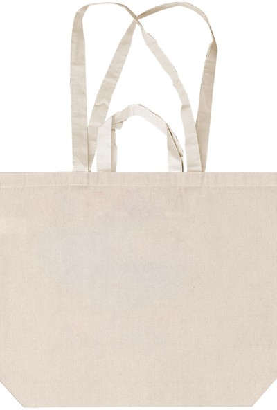 Kullan At Market Naturel Kumaş Çift Kulplu Pazar-Alışveriş Çantası 48 x 40cm