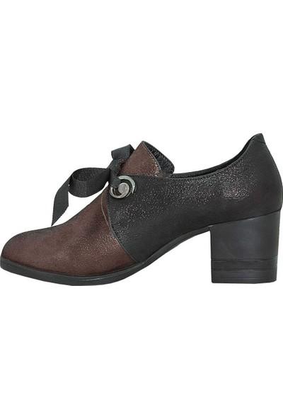 Mammamia D18Ka-835 Deri Kadın Ayakkabı Bronz