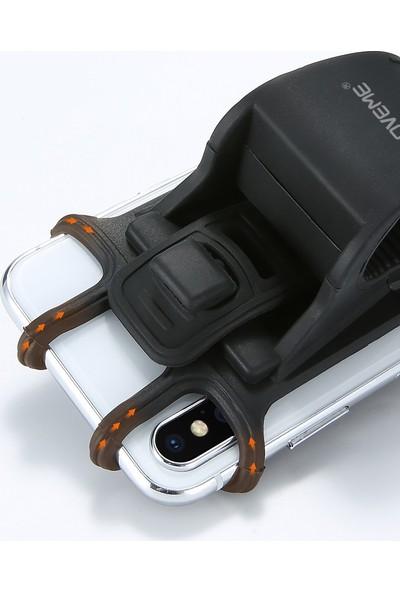 Floveme Bisiklet Motosiklet Telefon Tutucu - Siyah