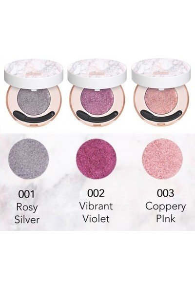 Pupa Material Luxury 3D Metal Eyeshadow 001 Rosy Silver