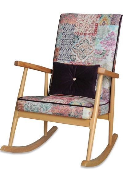 Asedia Teksas Naturel-Döşemeli Sallanan Sandalye