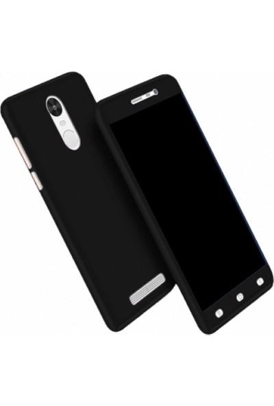 Elite Xiaomi Redmi Note 4X Slim 360 Tam Koruma Rubber Kılıf - Siyah