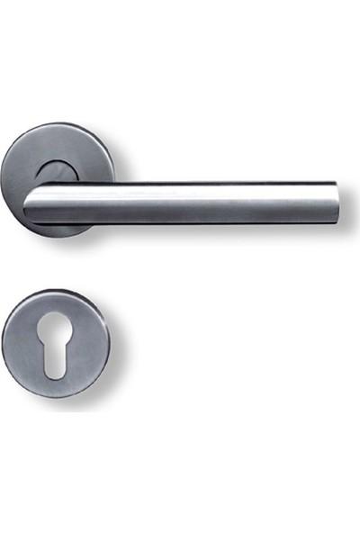 Omega Paslanmaz Rozetli Kapı Kolu - L Tipi