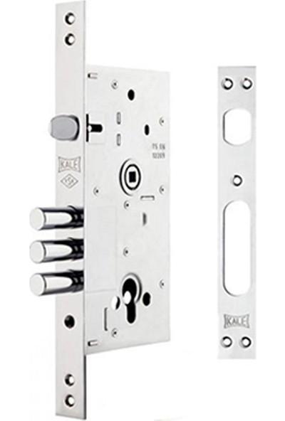 Kale 252 R Monoblok Çelik Kapı Kilidi - Krom (Sn Saten Silindirli)