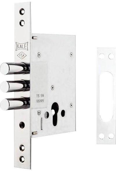 257Gm Kale Plus Çelik Kapı Emniyet Kilidi - Krom (Gm Saten Silindirli)