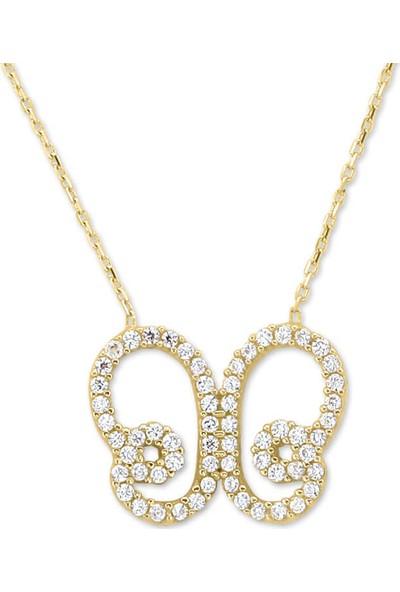Myra Gold 14 Ayar Altın Kelebek Kolye (Kly1124)