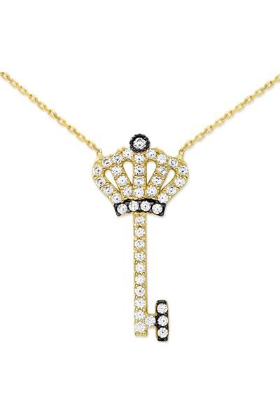 Myra Gold Altın Taç Anahtar Kolye (Kly1679)