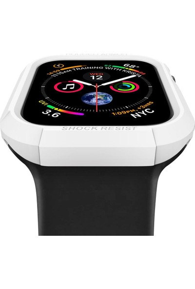 Spigen Apple Watch Seri 5/4 ile Uyumlu (40mm) Kılıf Rugged Armor White - 061CS24482