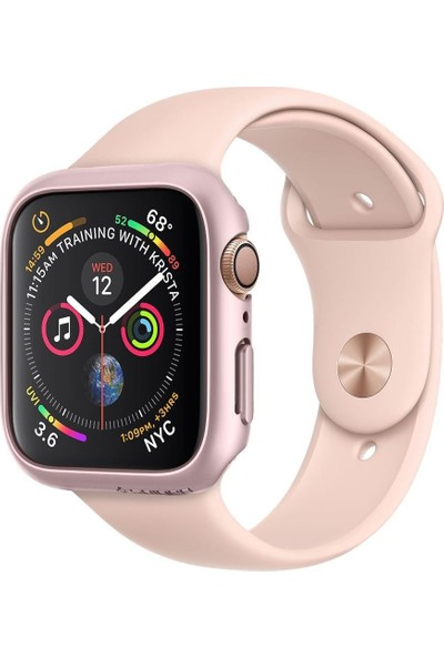 Spigen Apple Watch Seri 4 (40mm) Kılıf Thin Fit Rose Gold - 061CS24486