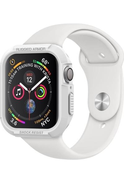 Spigen Apple Watch Seri 4 (44mm) Kılıf Rugged Armor White - 062CS24471