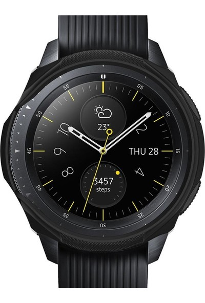 Spigen Galaxy Watch (42mm) Kılıf Liquid Air Black 600CS24585