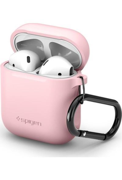 Spigen AirPods 2/1 Nesil Uyumlu Kılıf Pink (Silikon Kasa) - 066CS24810
