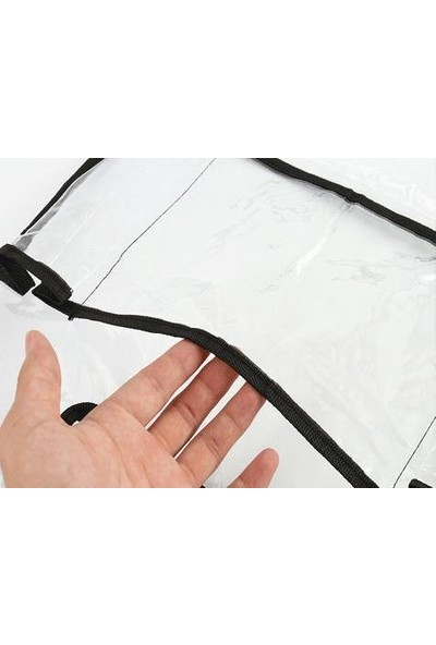 Stylecar Oto Koltuk Arkası Şeffaf Koruyucu Kılıf Tablet Organizer Styl500017