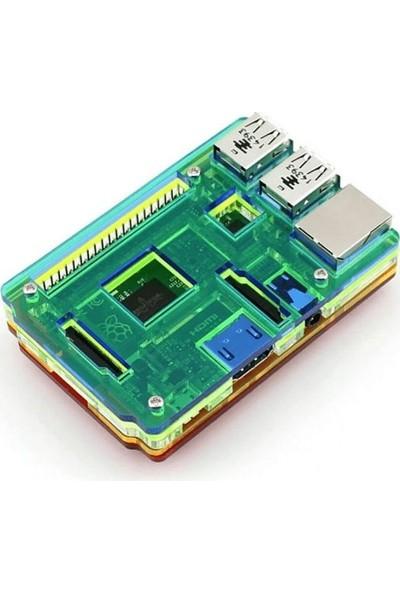 Waveshare Raspberry Pi 2 3 Rainbow Gökkuşağı Muhafaza Kutusu
