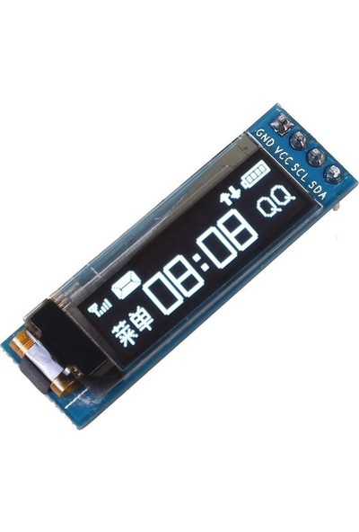 Robocombo 128x32 Oled Lcd Ekran 0.91 Inch SSD1306 Arduino Uyumlu