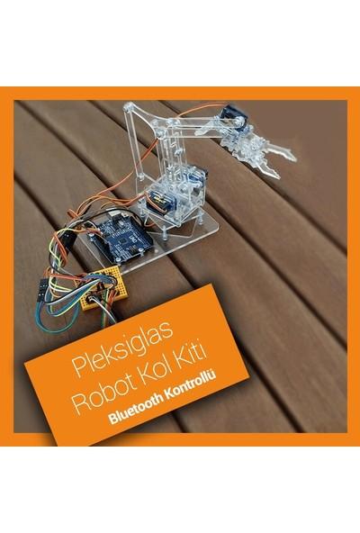Robocombo Pleksiglas Robot Kol Kiti - Bluetooth Modüllü Demonte