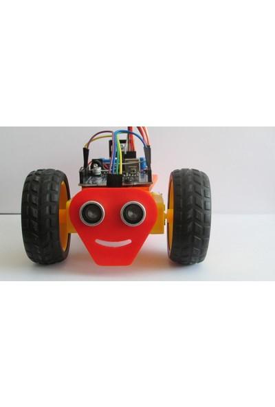 Maker Arduino Ultrasonik Sensörlü Engelden Kaçan Robot