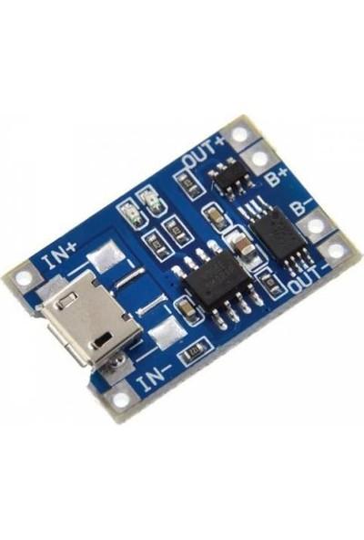 Maker Tp4056 Korumalı Lityum Pil Şarj Devresi Micro Usb Batarya Şarj