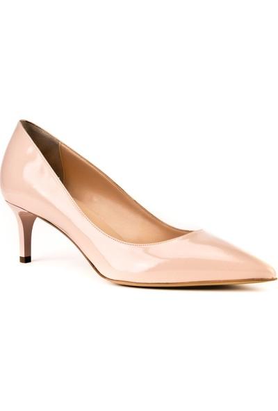 Cabani Topuklu Günlük Kadın Ayakkabı Pembe Rugan Vegan