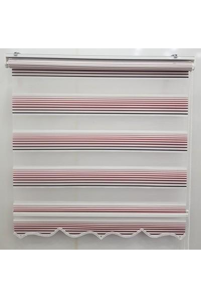 Dekoronyedi Kırmızı Piliseli Zebra Perde Etek Oyması Figürlü 30X30