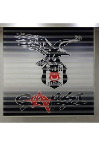 Dekoronyedi Poster Baskı Beşiktaş Çarşı Desen Zebra Perde 100X200
