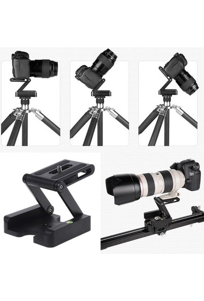 Soundizayn Tripod İçin Z Plate Pan & Tilt Flex Head Z Kafa Kamera Standı