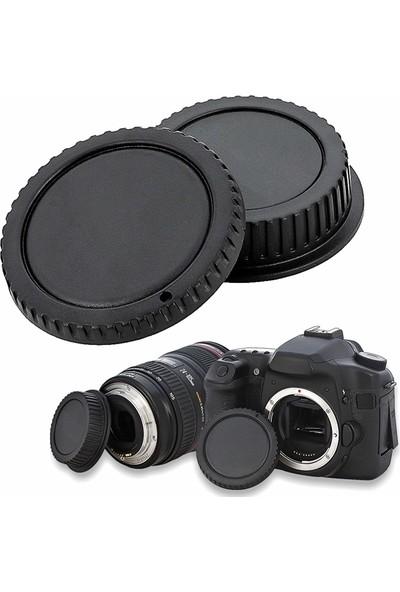 Soundizayn Canon Uyumlu Body Gövde Kapak Ve Lens Arka Kapağı