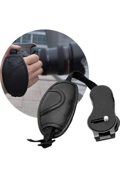 Soundizayn Dslr Canon - Nikon İçin Hand Grip Elcik Deri Bilek Kayışı