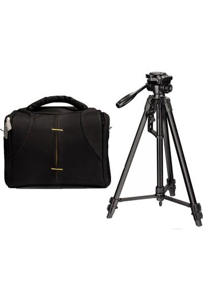 No Name D5300 Fotoğraf Makinesi İçin 170cm Tripod + Set Çanta