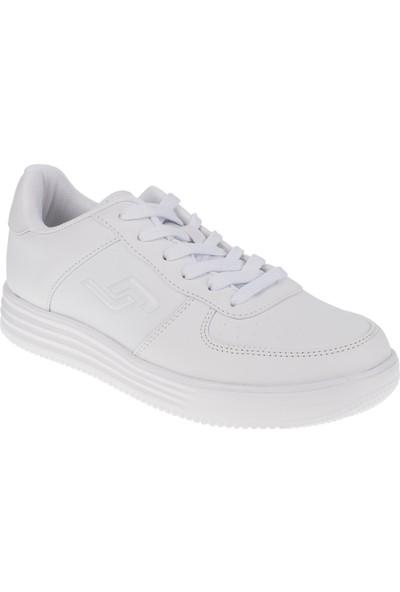 Jump 21516 Memory Foam Bağlı Beyaz Kadın Spor Ayakkabı