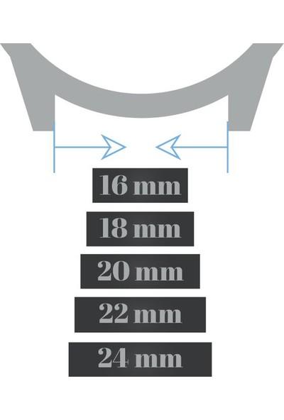 Chrono Koyu Kahverengi Deri Kol Saati Kordonu Antialerjik Kayış 22Mm