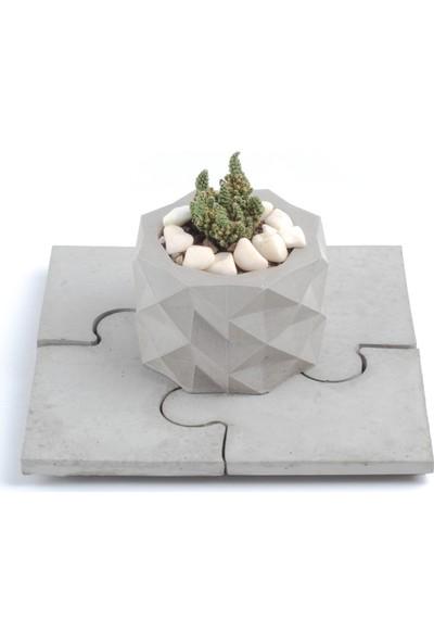Skal Collective Puzzle Beton Bardak Altlığı 4lü
