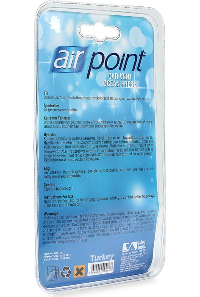 Air Point Kalorifer Petek Kokusu Ocean Fresh